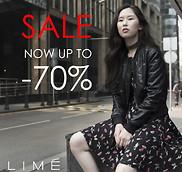 Скидки до 70% в LIME!